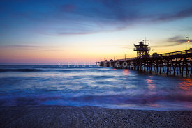 San Clemente Pier at Sunset Photography