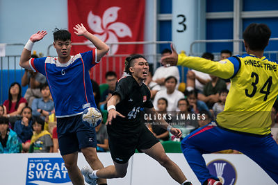 The 6th East Asian 'Men and Women' Handball Championship 第六屆東亞手球錦標賽 Men: Chinese Taipei vs Hong Kong on 2018 July 4 at Kowloo...