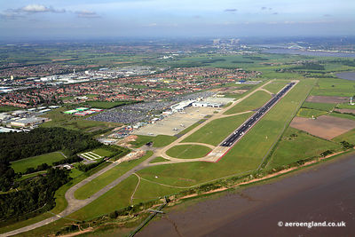 aerial photograph of Liverpool John Lennon Airport