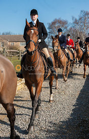 The field leaving the meet - Neil Coleman's last day, Toft, Lincolnshire