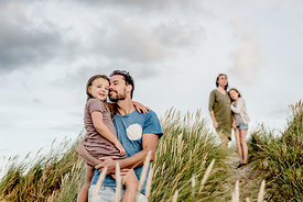 Danish family in dunes by Klitmøller 5