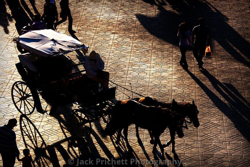 Horses and carriage on Place Djemaa