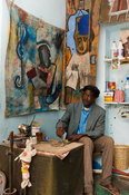 Artist in his atelier, Saint-Louis, Senegal