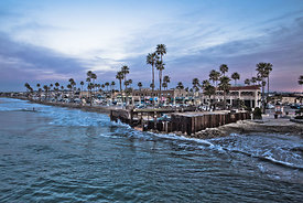 Newport Beach Businesses at Newport Pier Photo