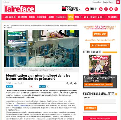 Faire Face, septembre 2017