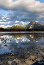 Mount Rundle from the Vermillion Lakes, Banff National Park, Canadian Rockies.