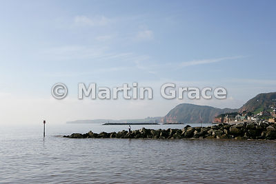 Groyne at Sidmouth, south Devon, England