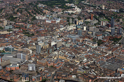 aerial photograph of , Leeds Yorkshire England UK