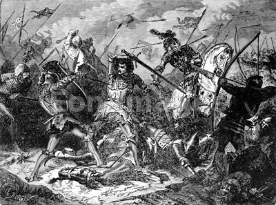 Battle of Agincourt during Hundred Years War