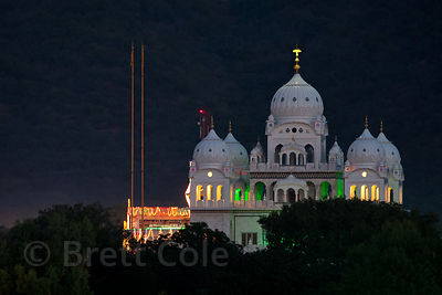 Beautiful Gurudwara Singh Sabha Sikh temple in Pushkar, Rajasthan, India