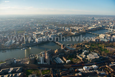 Aerial view of Lambeth and Westminster, London