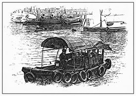 Hong_Kong_houseboat_Illustration_B_W