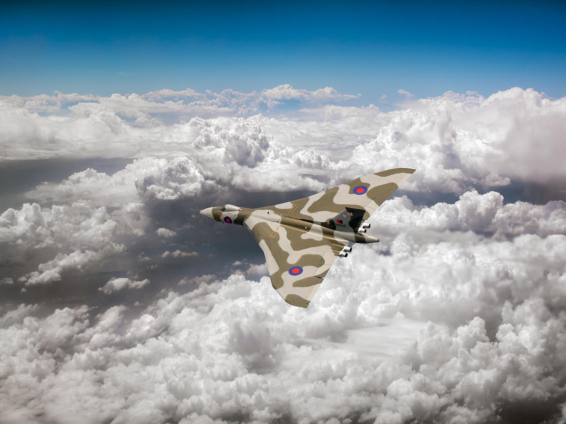Vulcan above majestic clouds