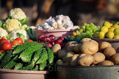 Vegetables for sale at a market, Pushkar, Rajasthan, India