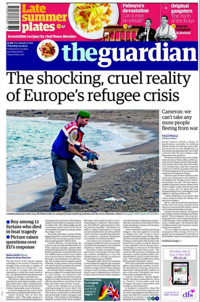 drowned-migrant-boy-the-guardian-front-page