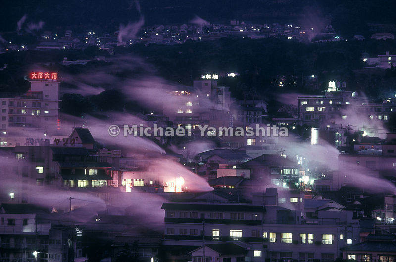 Veils of steam drift over Beppu, Japan's most famous - or infamous - hot-springs resort. Tourists flock here for the onsen (s...