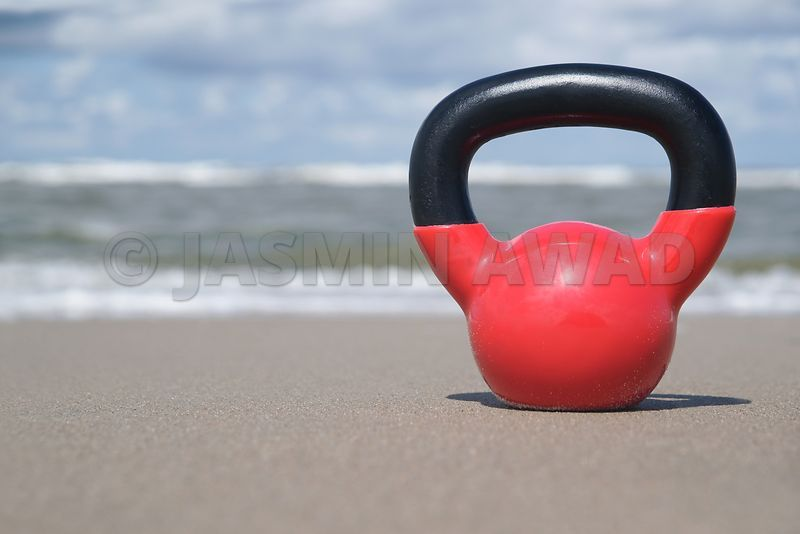 Kettlebell on the beach