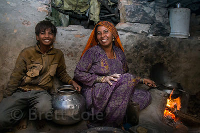 Mother and son from the Cheeta caste, Kharekhari village, Rajasthan, India