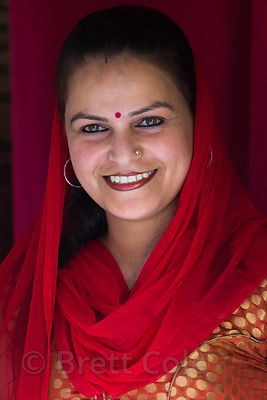 Portrait of a woman in Kullu India