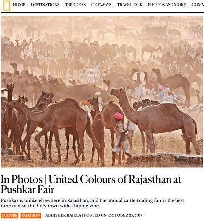 Nat Geo India, Pushkar Photo Essay, Oct 25 2017