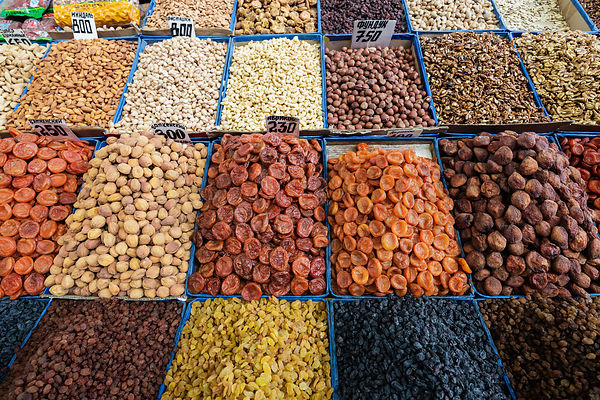 Dried Fruit at the Osh Bazaar