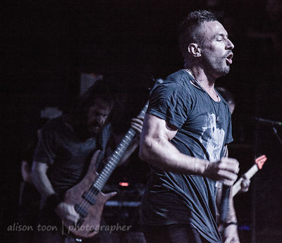 SACRAMENTO, CA - MAY 18: The Dillinger Escape Plan, performing at the Ace of Spades, Sacramento CA, on May 18th 2013.