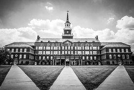 University of Cincinnati Black and White Photo