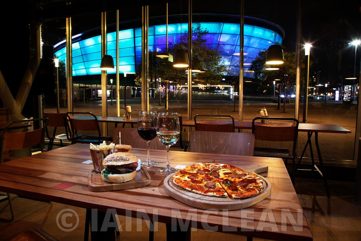 The SSE Hydro, Glasgow and the new Clyde Built restaurant at the SECC..30.9.13.The opening night of Clyde Built and the eveni...