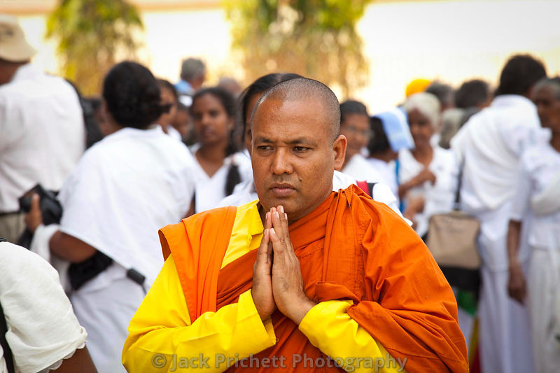 Buddhist priest at Sarnath