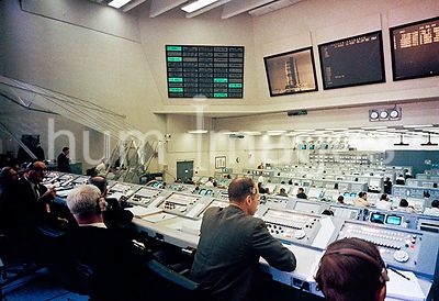 (23 Feb. 1969) --- Overall view of Firing Room 2 in the Launch Control Center, Launch Complex 39, Kennedy Space Center, durin...