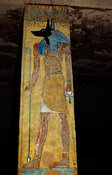painting of Anubis in the burial chamber in the tomb of Sethnakht, Valley of the Kings, Luxor, Egypt