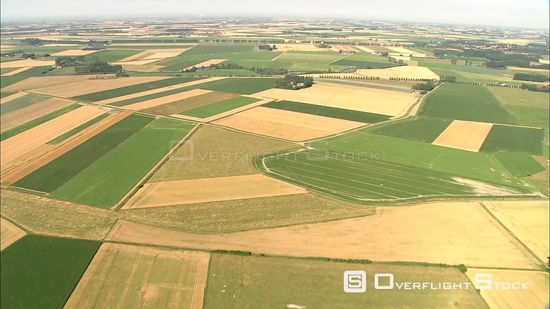 Over agricultural land in East Flanders, Belgium