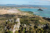 View from French Mountain of the Sugar Loaf hill in Diego Suarez Bay, Antsiranana, Madagascar