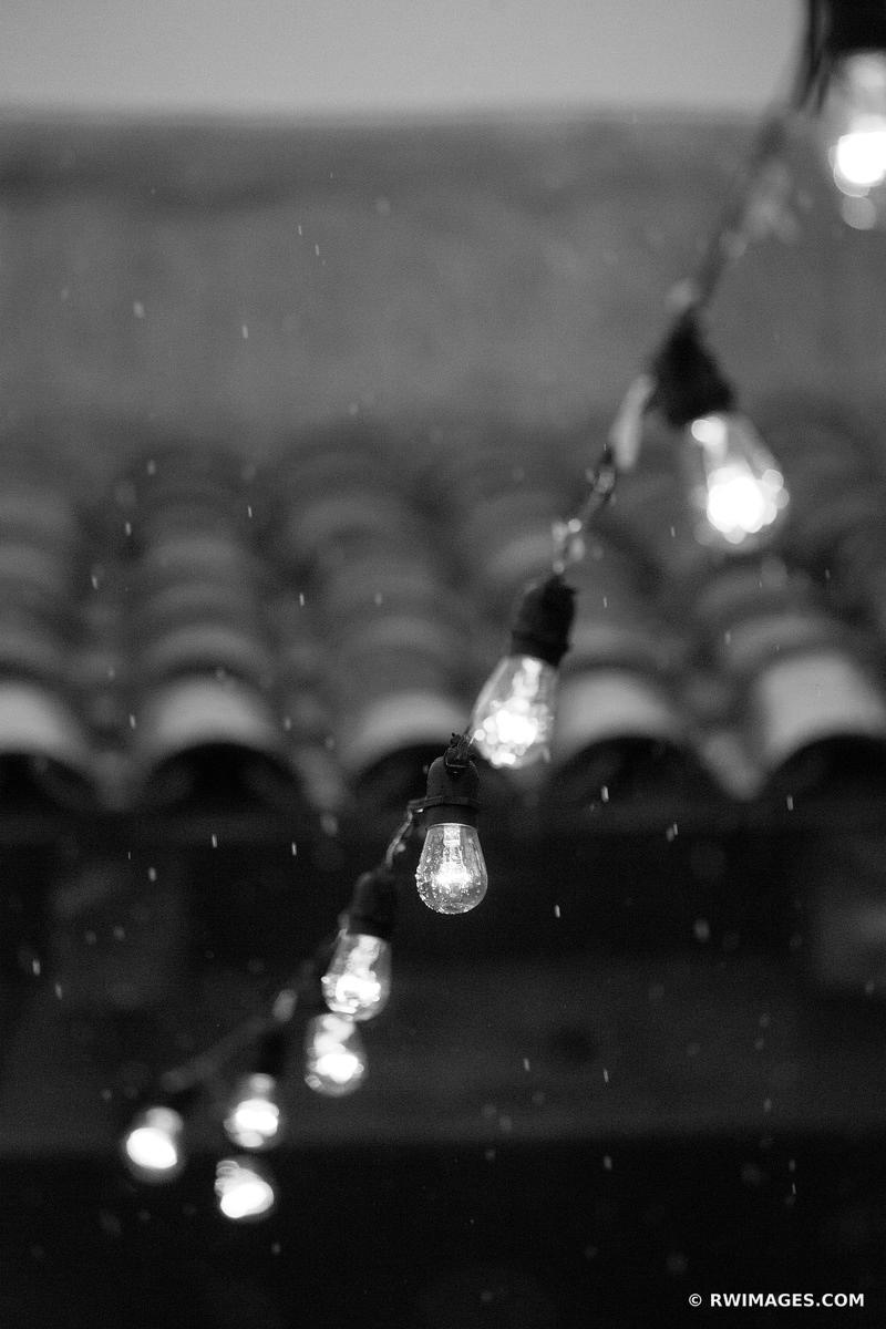 OUTDOOR LIGHTS ROOF TILES RAIN NORTHERN NEW MEXICO BLACK AND WHITE VERTICAL