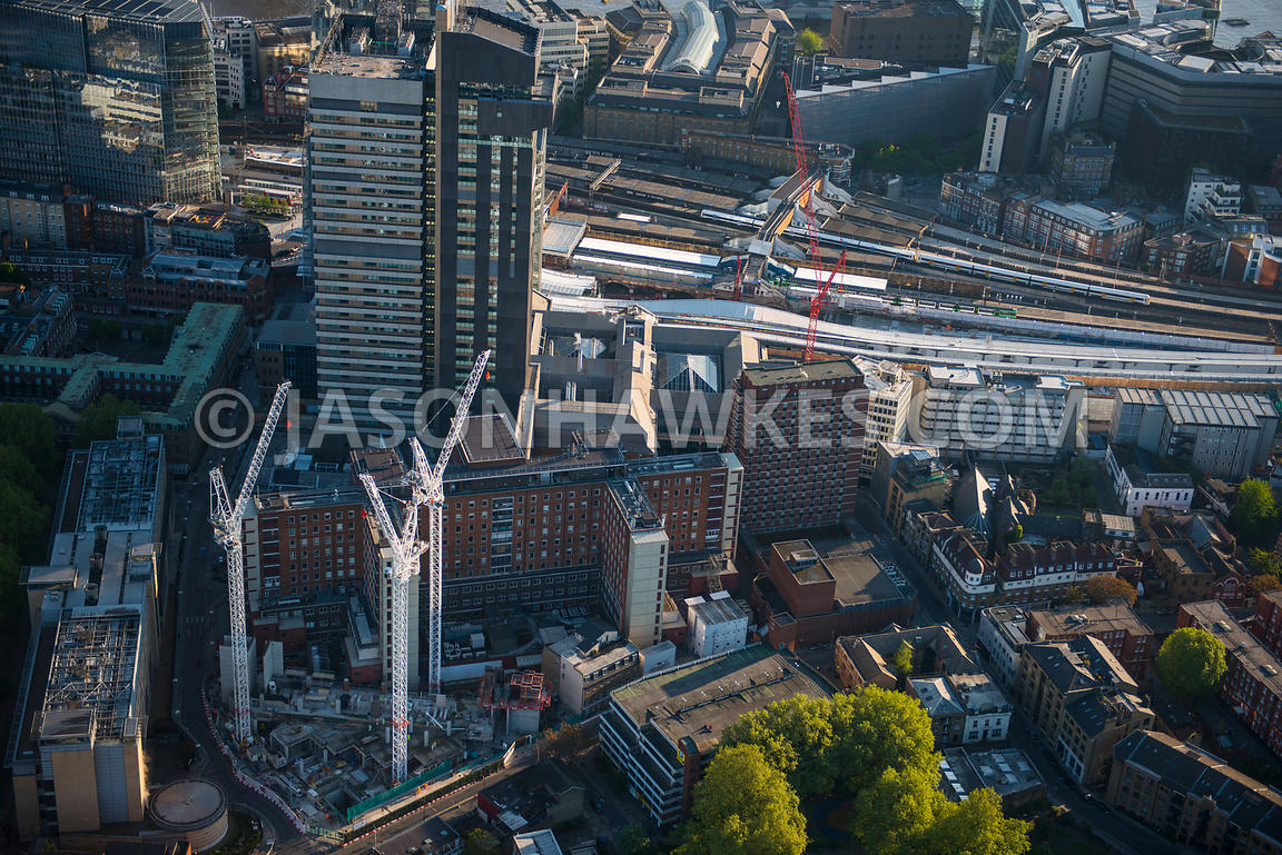 Aerial view of Guy's and St Thomas's Hospital, London