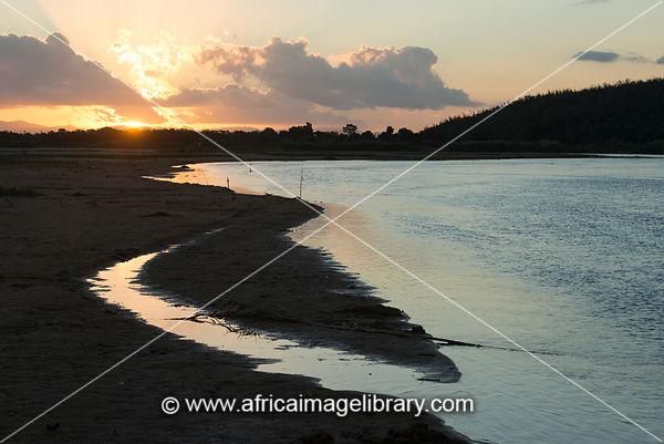 Sunset over the Mandrare River, Mandrare River Camp, Ifotaka Community Forest, Madagascar