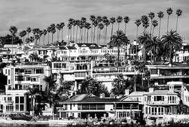 Corona del Mar California Black and White Picture