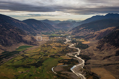 Similkameen River in the Valley Looking from Keremeos Near Osoyoos BC Canada
