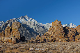 Alabama Hills with Lone Pine Peak and Mount Whitney