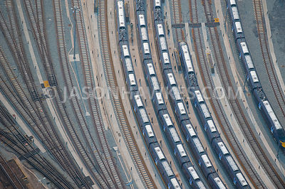 Trains at .Ashford International railway station