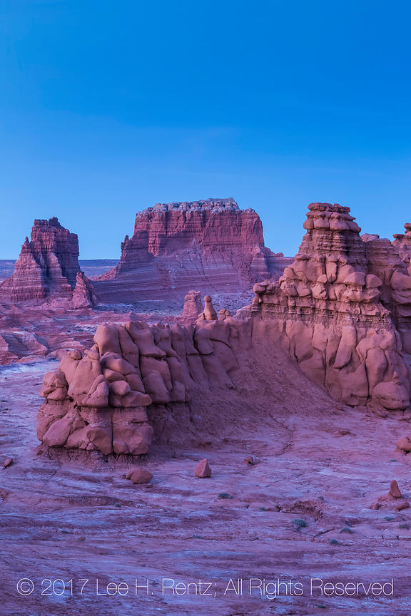 Sandstone Hoodoos at Twilight In Goblin Valley State Park