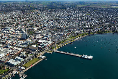 Western Beach in Geelong including Pier. Australia