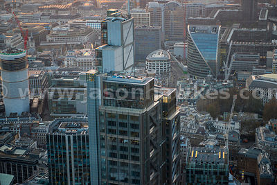 Aerial view of Heron Tower, London