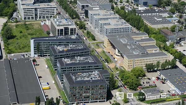 Office and business building complex Park Postepu in the district Mokotow in Warsaw in Poland