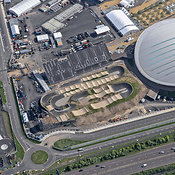 Aerial View Of The BMX Track And Velodrome, London