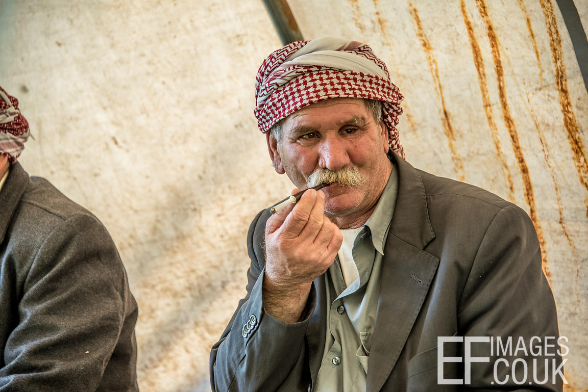 A Yezidi Minority Group Fakir Celebrating Sere Sal Or Yezidi New Year, In The Sheik's Tent In Lalish, Iraqi Kurdistan. 19th A...