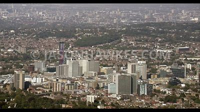 Aerial footage of Croydon.