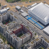 Aerial View Of The Olympic Village Next To The Basketball Arena, London