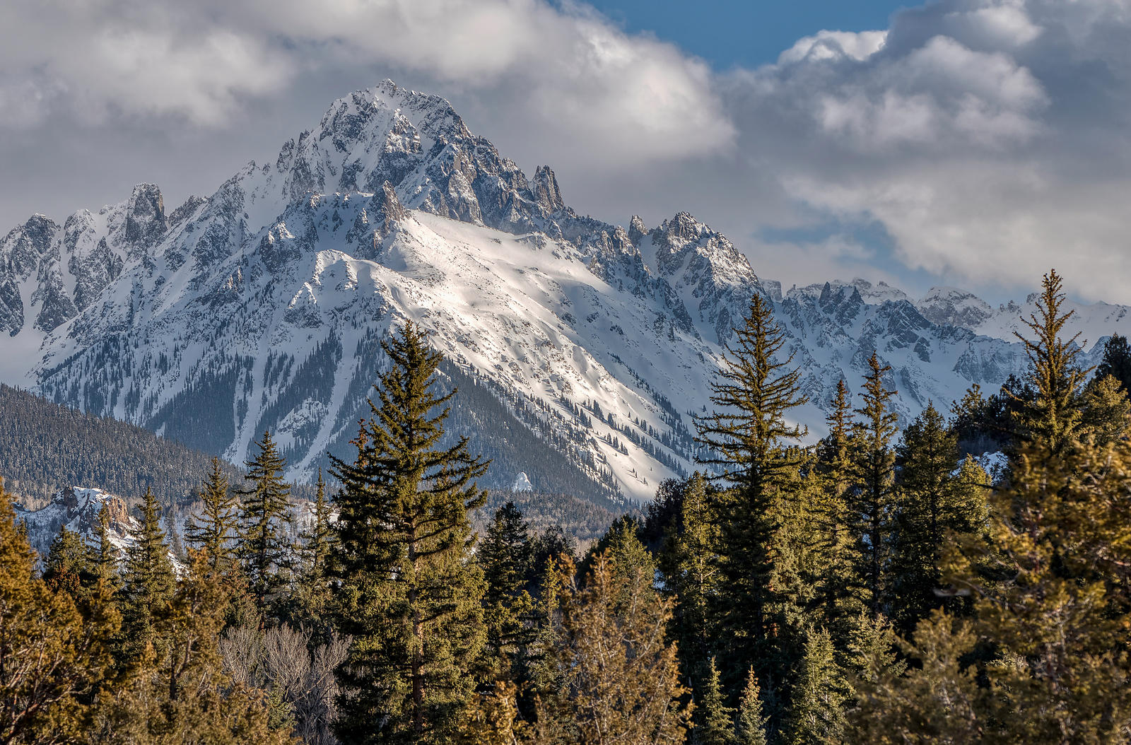 Winter Snow on Mount Sneffels