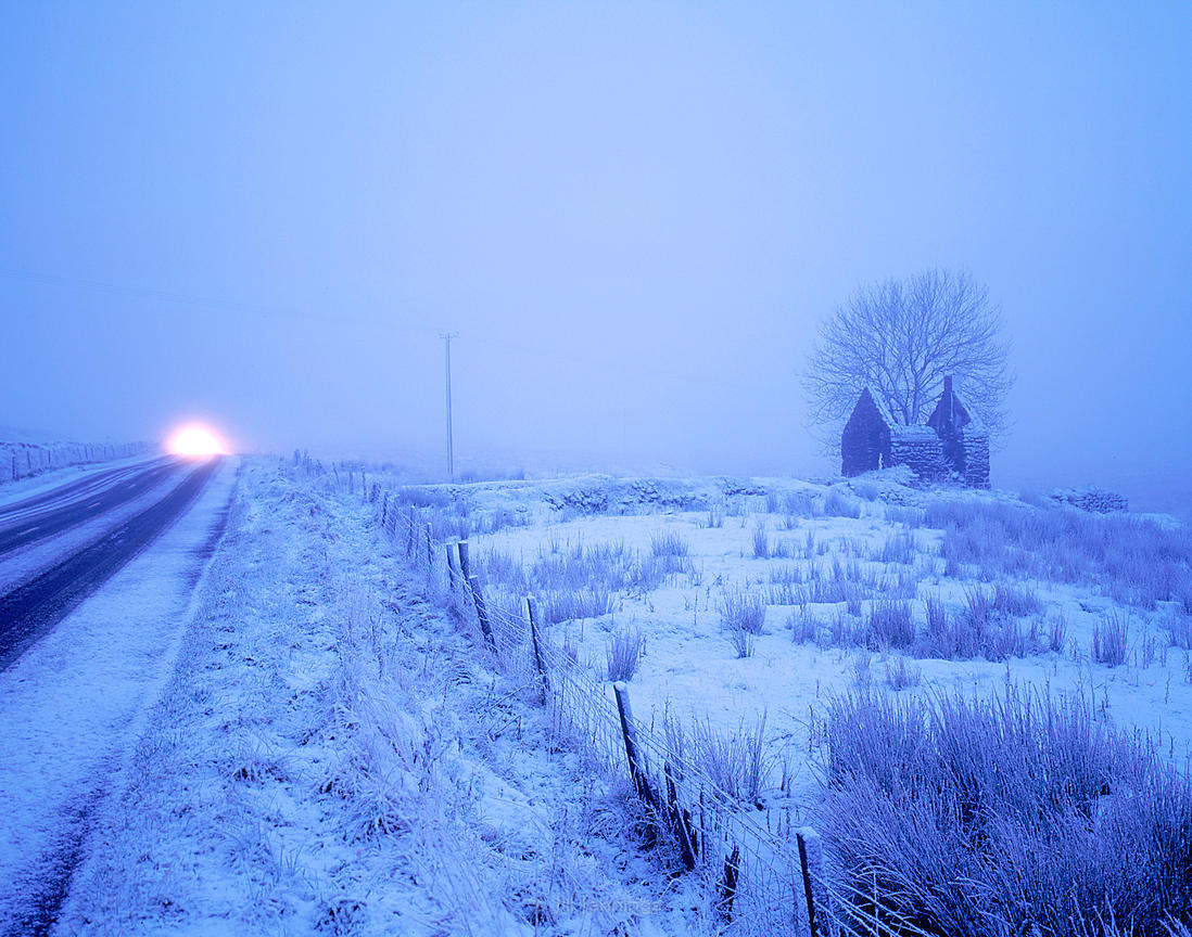 Icy dawn, The Glens of Antrim, Co, Antrim